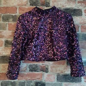Zara sequins crop top